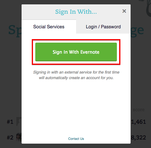 how to change evernote password